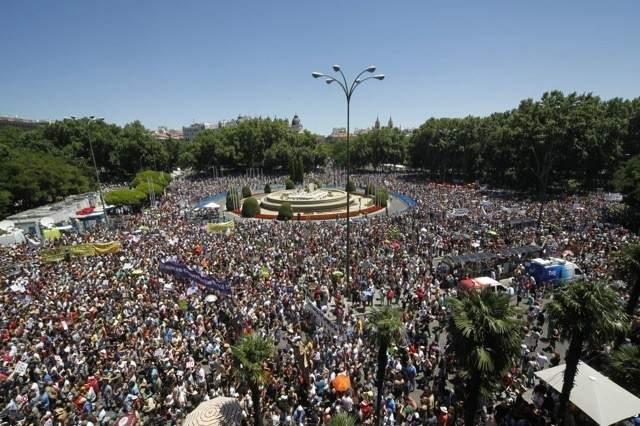 Una marea de indignación toma Madrid