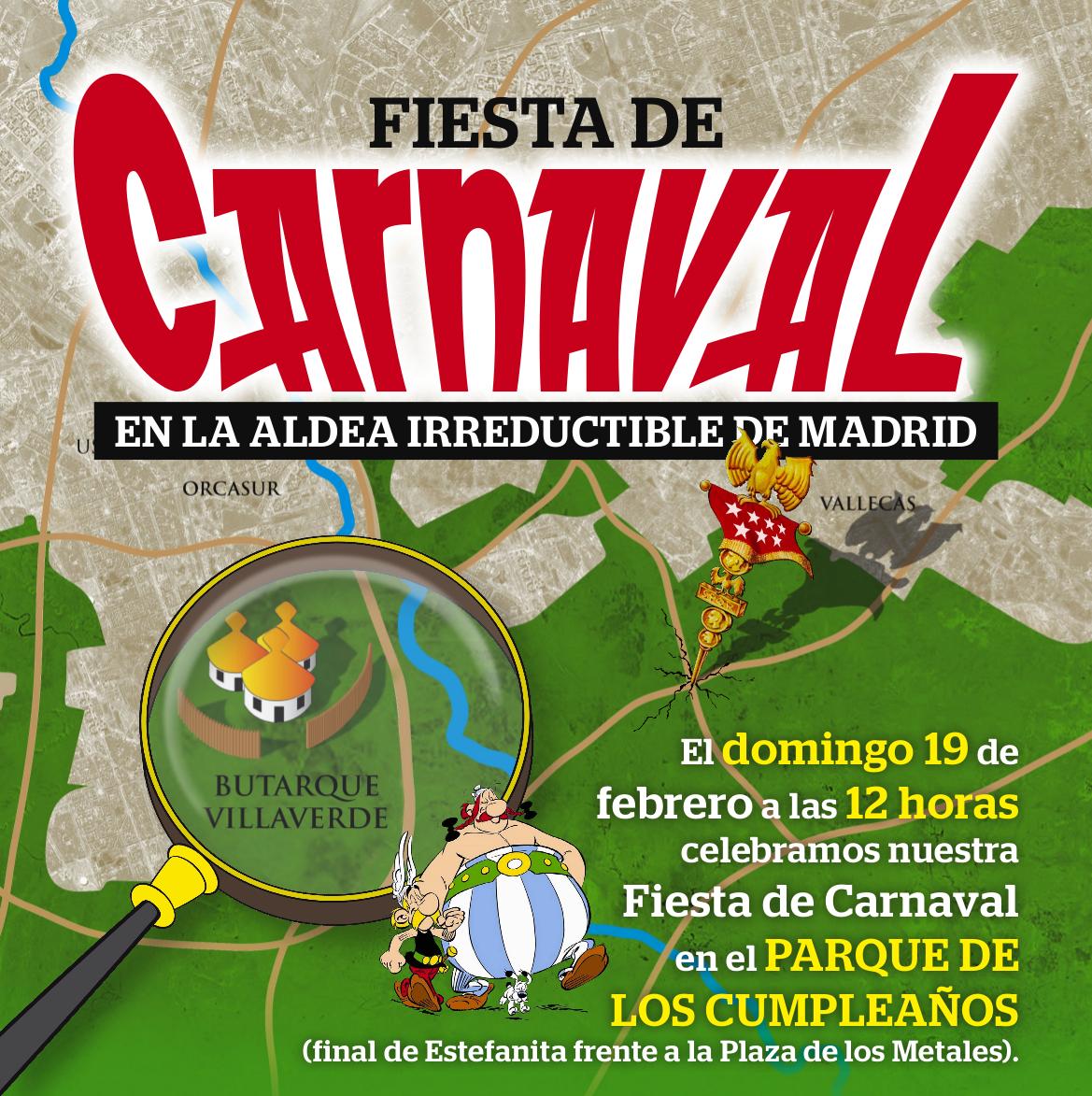 Fiesta de Carnaval en la aldea irreductible de Madrid (Parte 1)