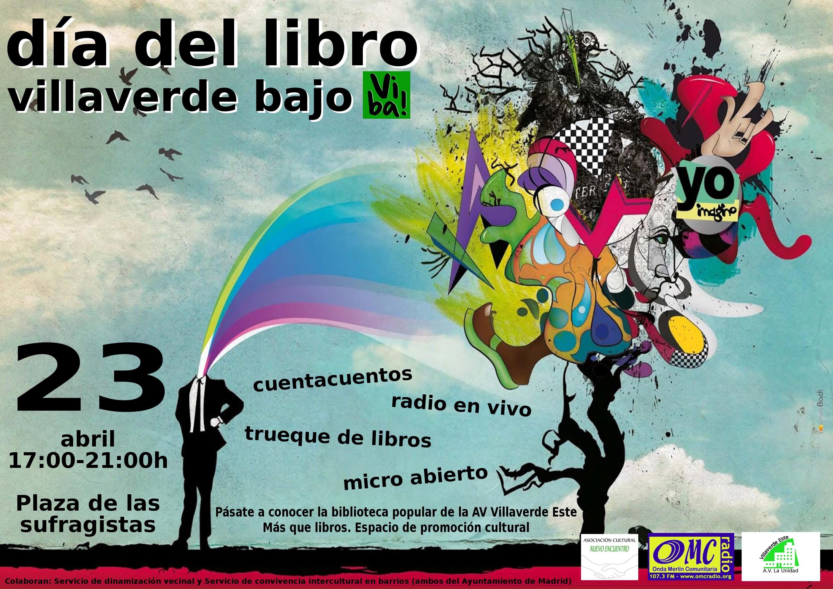 Celebración del día del libro en Villaverde