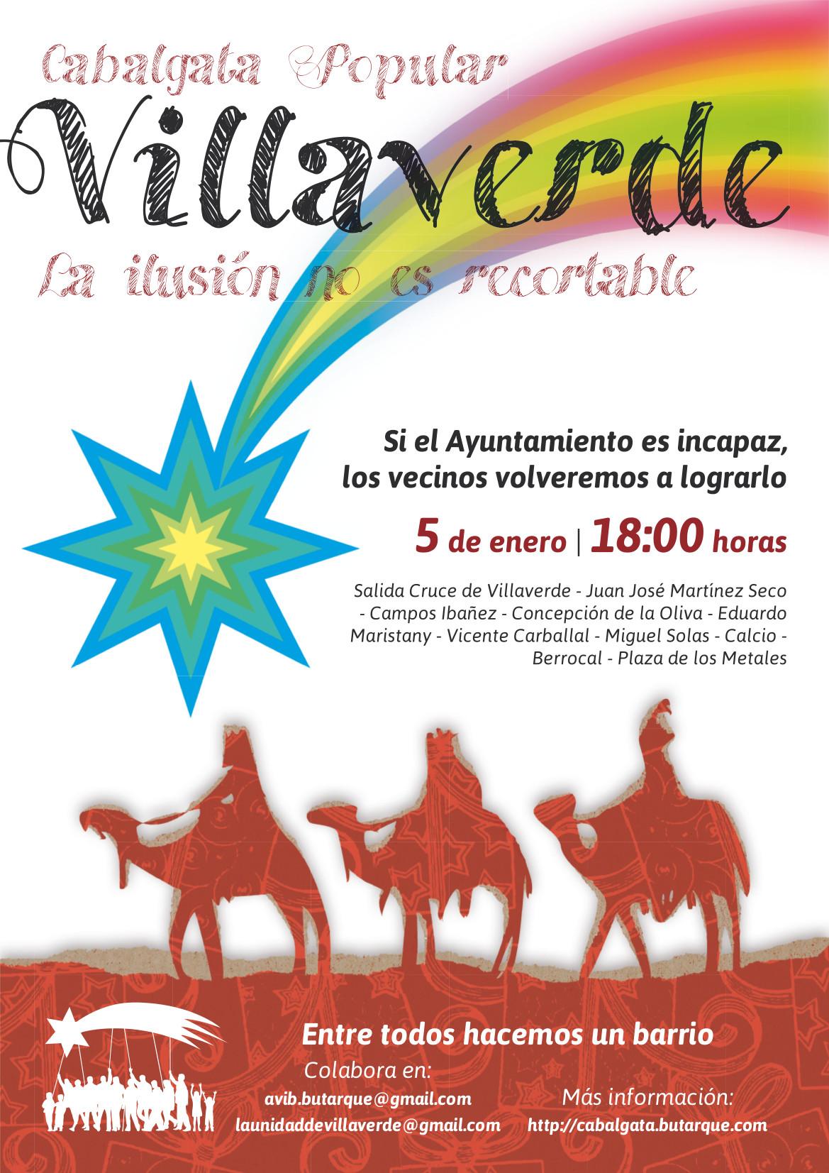 Así será la Cabalgata Popular de Villaverde 2015