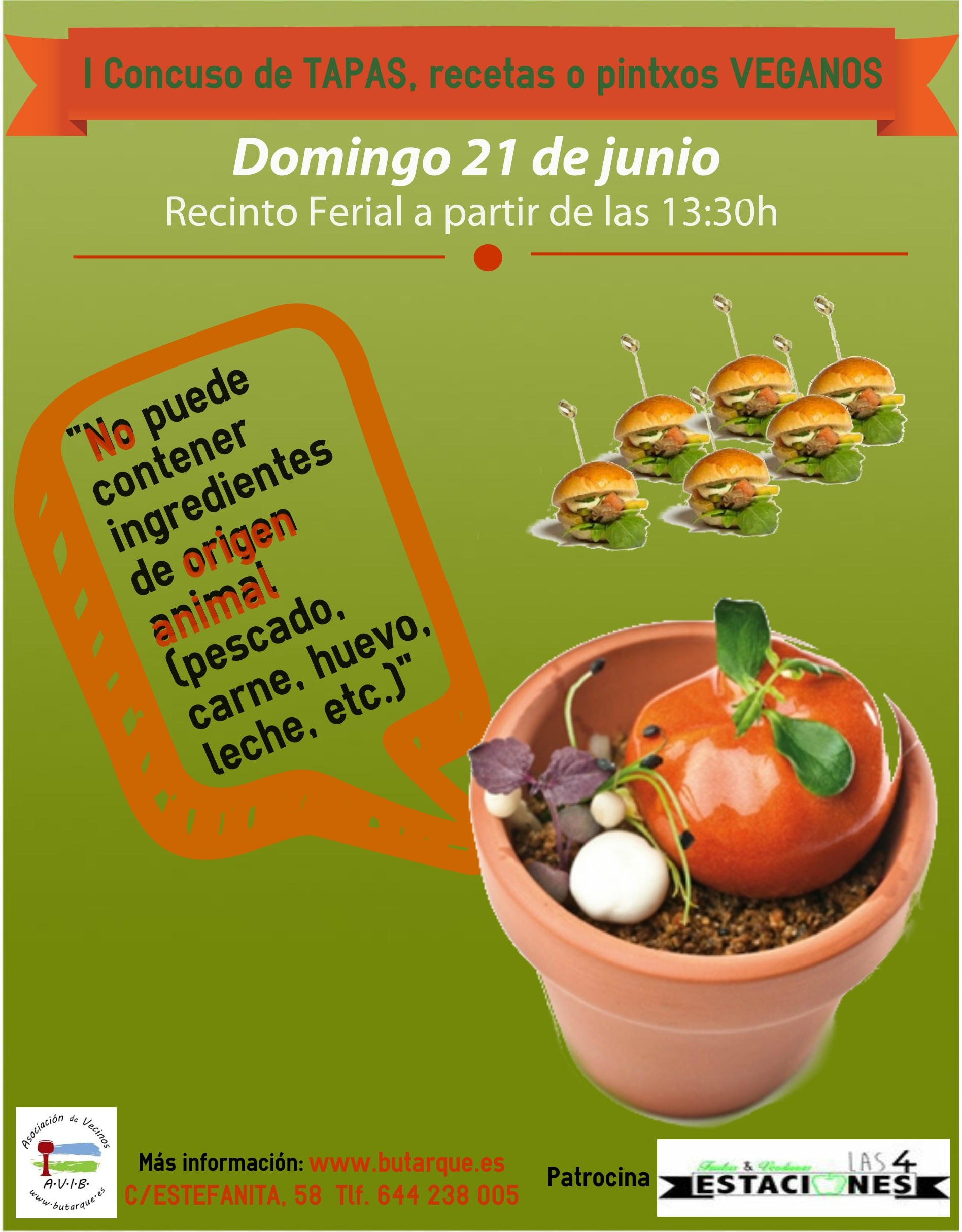 I Concurso de Tapas/Recetas o Pintxos Veganos