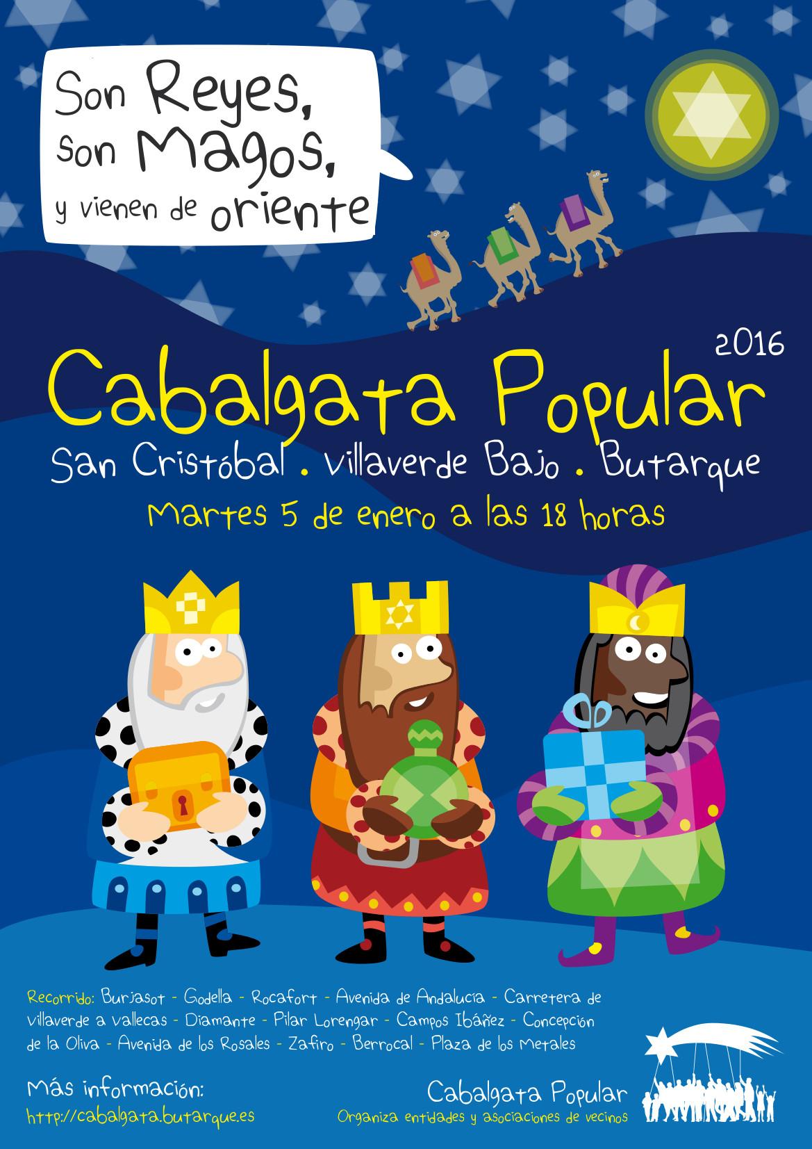 Cartel de la Cabalgata Popular de Villaverde 2016
