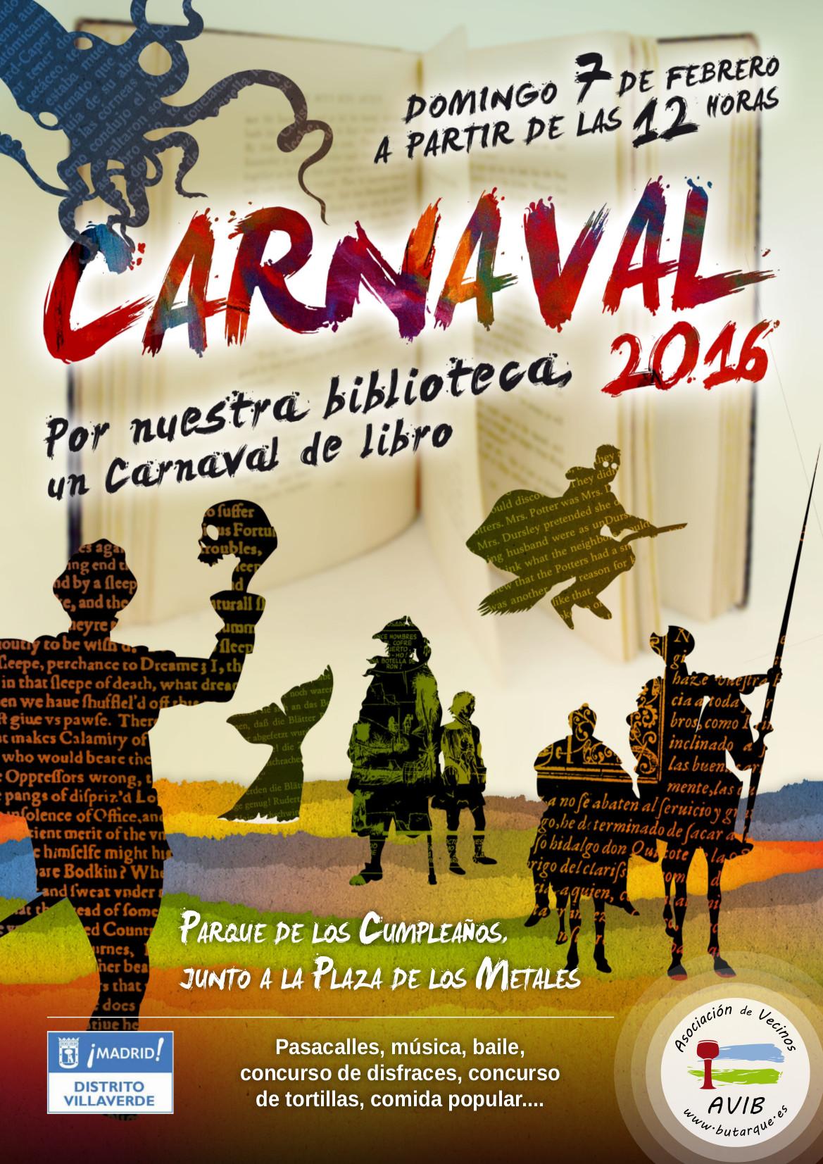 """Fiesta de Carnaval 2016: """"Por nuestra biblioteca, un Carnaval de libro"""""""