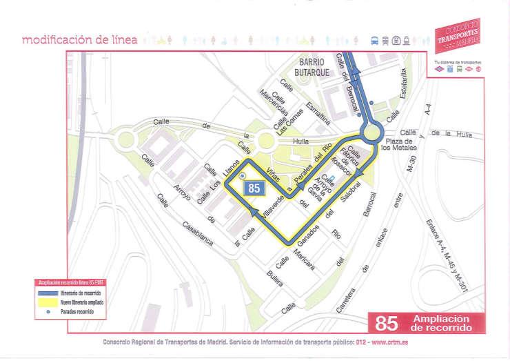 El Consorcio ampliará la línea 85, pero se niega a dotar de una segunda línea al barrio