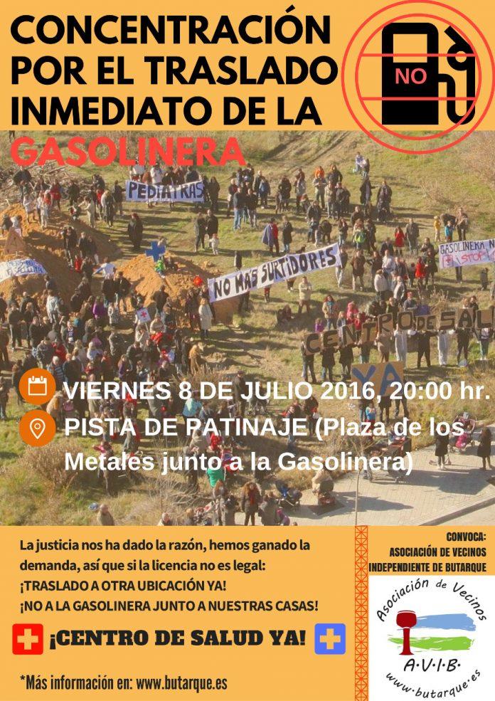 8 de julio, concentración por el traslado inmediato de la gasolinera