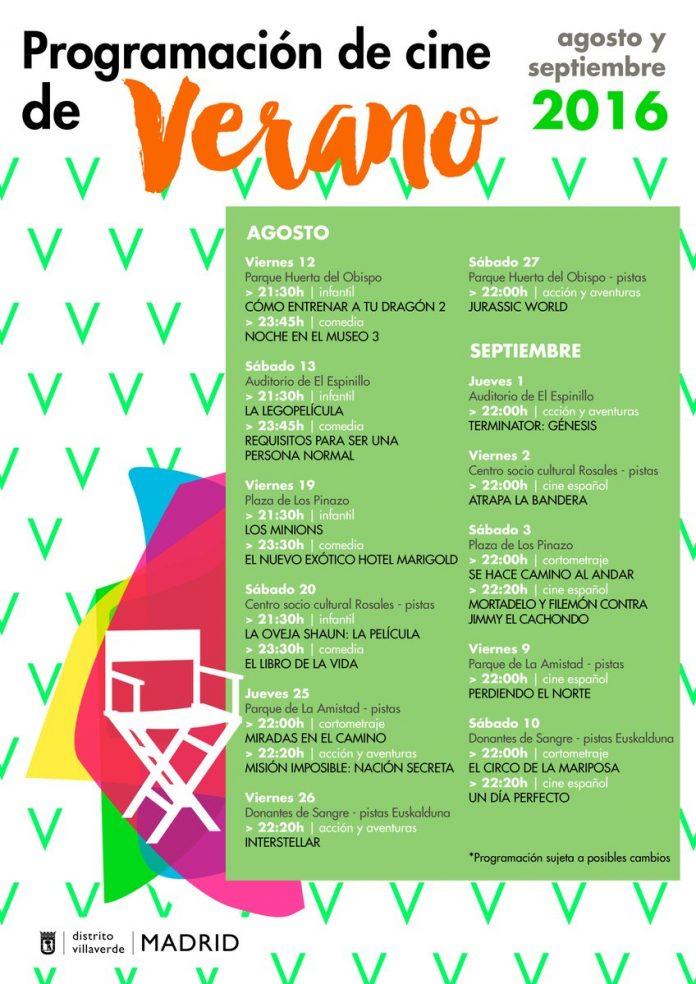 Cine de verano en Villaverde