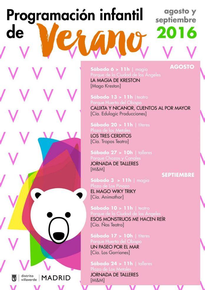 Programación infantil de verano en Villaverde