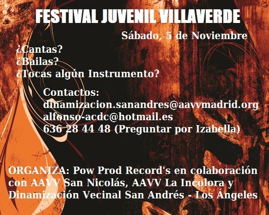 Festival juvenil en Villaverde
