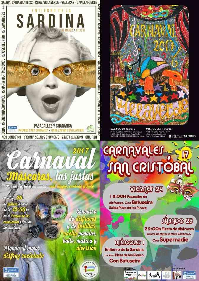 Programación de Carnaval en Villaverde
