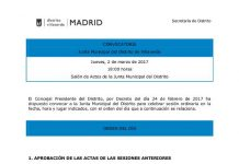 Junta Municipal de Villaverde del mes de marzo