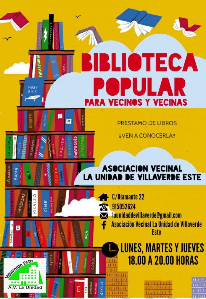 Biblioteca vecinal en La Unidad de Villaverde Este