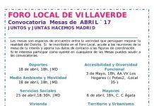 Próximas reuniones del Foro Local de Villaverde