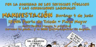 Manifestación por la remunicipalización de los servicios sin despidos