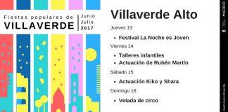 Programa de las fiestas de Villaverde Alto 2017