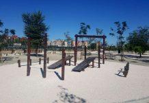 Nueva zona de ejercicios en el Parque Lineal del Manzanares