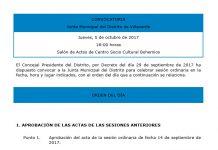 Pleno de la Junta Municipal de Villaverde octubre 2017