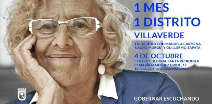 Manuela Carmena visita Villaverde el 4 de Octubre